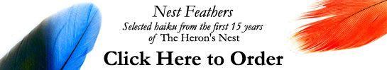 Order Nest Feathers: Selected Haiku from the first 15 years of Heron's Nest